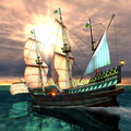 большое многопалубное парусное судно 6 букв